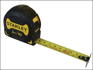 Stanley Grip Pocket Tape 3m/10ft (Width 19mm)